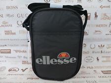 ELLESSE Small Body Bag Mens Pozza Canvas Shoulder Bags Black Sml Messenger BNWT