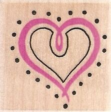 HEART with DOTS 360C Rubber Stamp - By Embossing Arts!