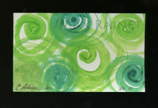 Listed Artist = C PETERSON = ACEO ART PAINTING =Watercolor ABSTRACT Swirls No 01