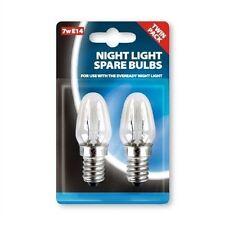 Ampoules pour veuilleuse petit culot à vis Edison E14 7W lot de 2