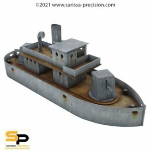 WW1 Fly Class River Boat 28mm MDF Sarissa Precision K018