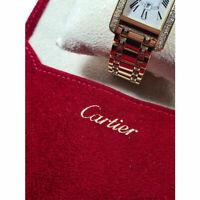 Cartier Pochette Porta Orologio O Gioiello In Velluto Logata Originale