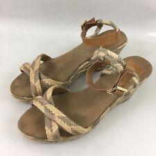 f6fcd9e03bc Tory Buch Womens 11 M Criss Cross Wedge Heel Ankle Strap Jute Espadrille  Sandals