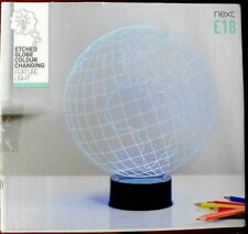 Next Etched Globe Colour changing Feature Light