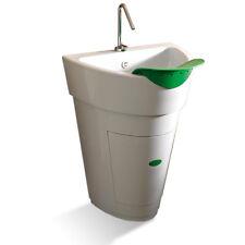 Lavatoio design Colavene Pot con strofinatoio a foglia e mobile interno con anta