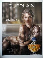 PUBLICITE-ADVERTISING :  GUERLAIN Shalimar La Légende  2014  N.Vodianova,Parfum