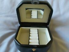 Neat, small black travel jewellery organiser case, excellent condition
