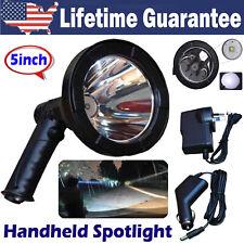 Super Bright LED Searchlight Rechargeable Handheld Spotlight Flashlight Portable