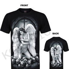 Unisex Men Ladies  T-shirt ANGEL Fallen Fairy Mystical Skull, Church