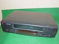 SCHNEIDER SVC216 VCR VHS VIDEO CASSETTE RECORDER Vintage Black FAULTY SPARES