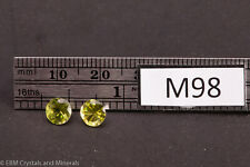 PERIDOT PAIR FACETED GEMSTONES 1.9 CT M98