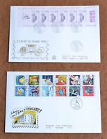 France Collection Booklet FDC CV$225.00 1985-1993 Booklet Panes