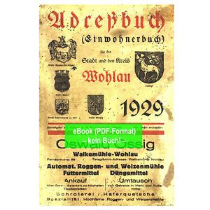 eBook: Adressbuch Stadt u. Krs. Wohlau Schlesien 1929 Wołów (AB356)