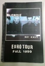 """Blondie """"No Exit"""" Euro Tour Itinerary - Fall 1999"""