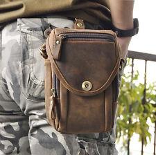 COW Genuine Leather Men's Belt Hip Bum Fanny Waist Pack Phone Purse Shoulder Bag