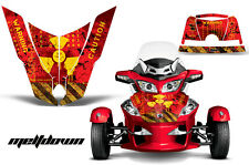 AMR Racing Can Am BRP RTS Spyder Hood Graphic Kit Wrap Roadster Decals MELTDOWN