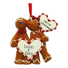 PERSONALIZED Gingerbread Sweethearts Couple Our First Christmas Holiday Gift