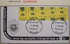 Stadspost Apeldoorn 1983 - ERROR FDC 3a Gemeentewapen met zegelmisdruk