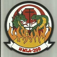 HMLA-269 USMC PATCH PVC RUBBER ATTACK HELICOPTER SQDN PILOT MCAS NEW RIVER N.C
