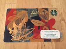 """Canada Series Starbucks """"FALL LEAVES 2015"""" Gift Card - New No Value"""