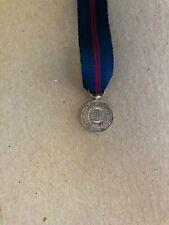 1911 coronation medal Delhi Durbar miniature King George V & Mary , silver