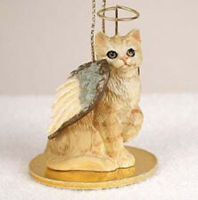 SHORTHAIR RED TABBY ANGEL CAT CHRISTMAS ORNAMENT HOLIDAY  Figurine