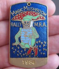 MAGIC MUSHROOM MOTORCYCLE RALLY 1984 vintage quality metal & enamel pin BADGE