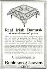 WW1 Real Irish Damask Donegal Place Belfast Ad