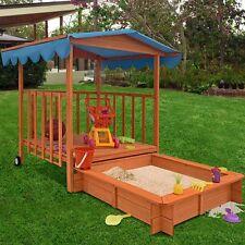 Grande in legno sandbox & TETTO GIARDINO GIOCATTOLO migliori Estate Outdoor giocattoli per bambini CAVA DI SABBIA