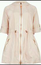 Ted baker Naaomi Swing Jacket in Pale Pink, Size 2 UK Size 10.