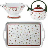 VILLEROY & BOCH 3er Set Toy's Delight Kitchen Sieb Teekessel Tablett Weihnachten