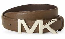 Michael Kors Brown Men's Belt MK Buckle Logo 31mm Size: 32