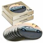 8x Round Coasters in the Box - Classic Car Vintage Surf Beetle  #15951