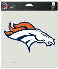 "Denver Broncos Decal 8x8 Color Color 8"" x 8"" Die Cut Decal Sticker USA SHIP"