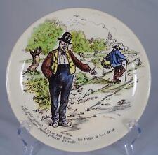 Assiette en faïence de U&C Sarreguemines, série les Normands n°11 (1875-1900)