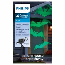 Philips 4ct Halloween Adjustable Lens Projector with LED Bulbs - Green Bats