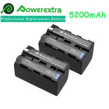 2x 5200mAh Li-Ion Battery for Sony NP-F750 NP-F770 F970 DCR-VX2000 CCD-TRV215 US