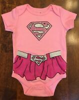 NWOT DC Comics Baby Supergirl Glitter Bodysuit - SIZE 0-3 MONTHS