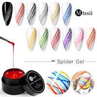 MTSSII 5ML Elastic Spider Liner Painting UV Gel Nail Polish Soak Off Varnish DIY