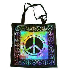 Peace Sign Tie Dye Reusable TOTE Yoga HIPPIE Indian Handbag BAG Purse Shopping