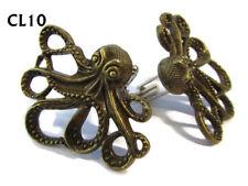 steampunk jewellery cufflinks bronze octopus kraken pirate Black Sails #CL10