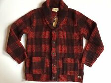 $225 Denim&Supply Ralph Lauren Buffalo Plaid 100% Wool Cardigan-MEN-M