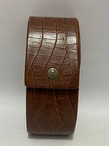 Tommy Bahama Brown Hard Case For Eye Glasses or Sunglasses Faux Crocodile
