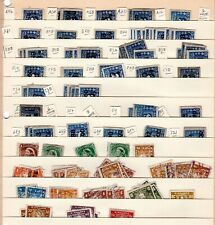 Packed page of Canada Imperforate Excise Revenue Stamps with tobacco date codes
