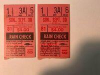 1973 (9/30) NY Yankees vs Detroit Tigers Ticket Stub Last Game Original Stadium