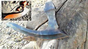 MDM Hand Forged Vintage Tomahawk Axe Blade /Hatchet Beard Combat Blade 12 Inches
