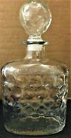 Vtg Shenley Liquor Old Quaker Whisky Thatcher Glass  Decanter w/ Stopper 1967