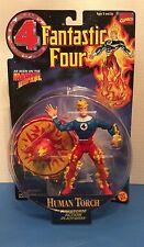 MARVEL 1996 Fantastic 4 Action Figure Toy Human Torch With Firestorm Base ToyBiz