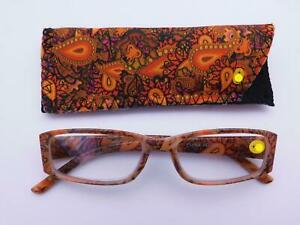 Paisley Readers With Case in Four Colors