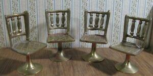 Vintage brass miniature chairs